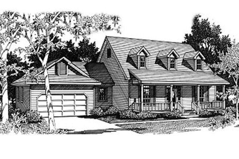 Country Exterior - Front Elevation Plan #14-211