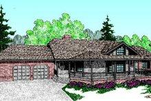 Cabin Exterior - Front Elevation Plan #60-193