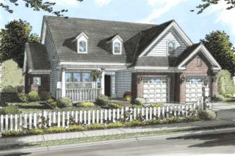 Farmhouse Exterior - Front Elevation Plan #20-1675