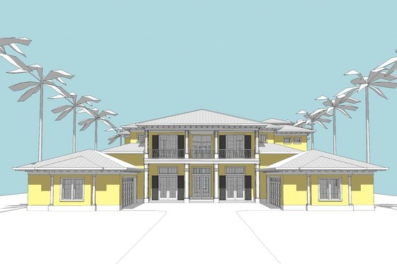 Southern Exterior - Front Elevation Plan #481-9