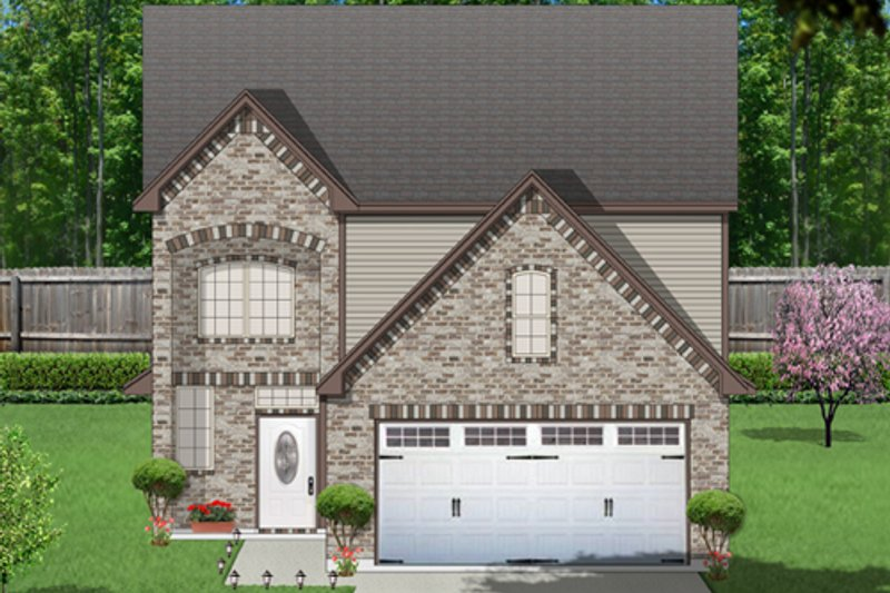 Traditional Exterior - Front Elevation Plan #84-571 - Houseplans.com