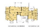 Mediterranean Style House Plan - 7 Beds 6.5 Baths 5120 Sq/Ft Plan #1066-111 Floor Plan - Main Floor Plan