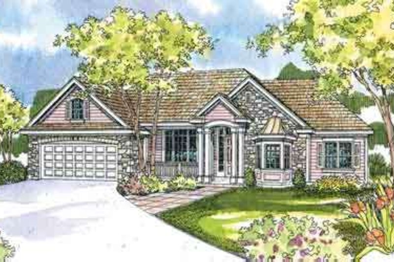 Country Exterior - Front Elevation Plan #124-506