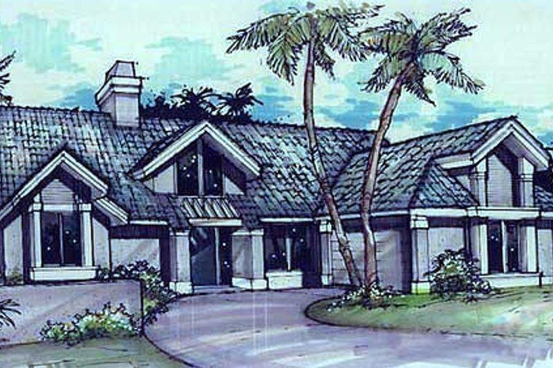 Architectural House Design - Exterior - Front Elevation Plan #320-152