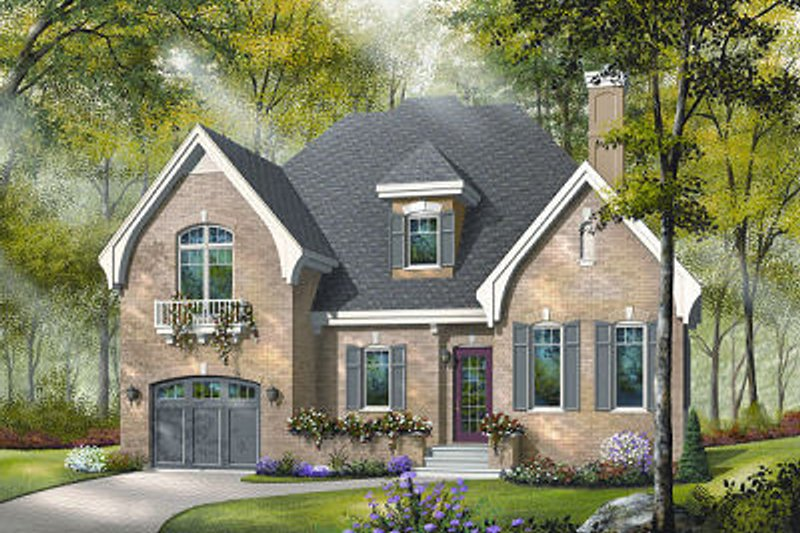Home Plan - Traditional Exterior - Front Elevation Plan #23-802
