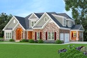 European Style House Plan - 4 Beds 4.5 Baths 3793 Sq/Ft Plan #419-163 Exterior - Front Elevation