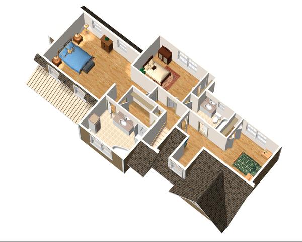 Country Floor Plan - Upper Floor Plan Plan #25-4672