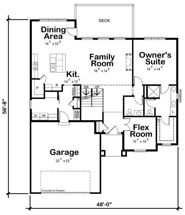 Dream House Plan - Contemporary Floor Plan - Main Floor Plan #20-2429