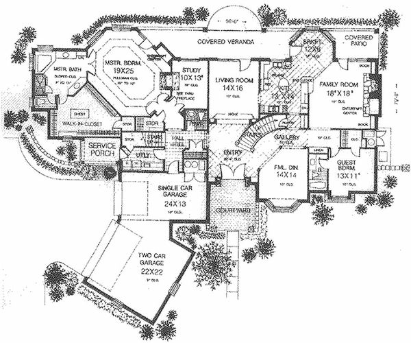 European Floor Plan - Main Floor Plan #310-516