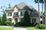 European Style House Plan - 4 Beds 4 Baths 4133 Sq/Ft Plan #1054-82 Exterior - Front Elevation