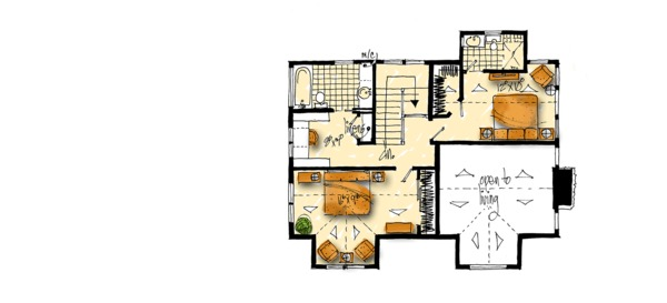 Craftsman Floor Plan - Upper Floor Plan Plan #942-52