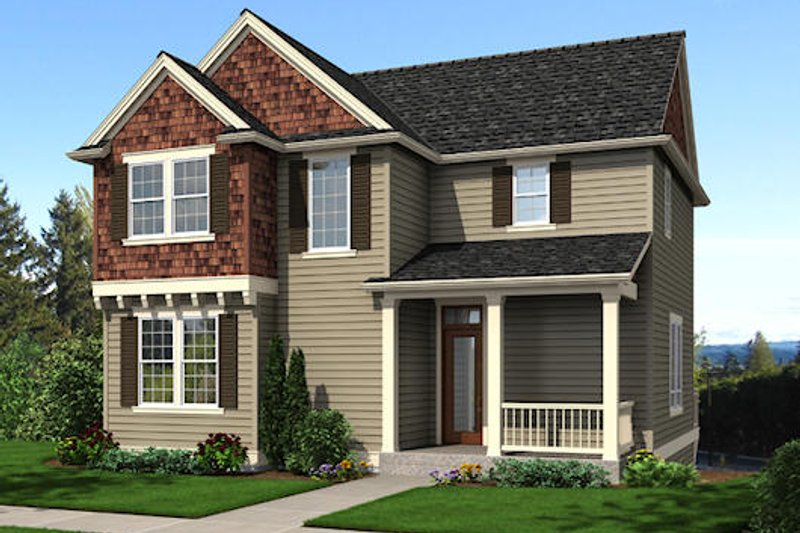 Traditional Exterior - Front Elevation Plan #48-513 - Houseplans.com