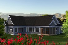 Country Exterior - Rear Elevation Plan #70-1225