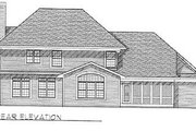Modern Style House Plan - 4 Beds 2.5 Baths 2772 Sq/Ft Plan #70-439 Exterior - Rear Elevation
