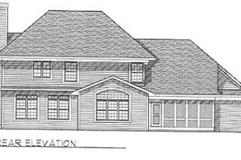 Modern Exterior - Rear Elevation Plan #70-439 - Houseplans.com
