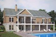 European Style House Plan - 3 Beds 2.5 Baths 2619 Sq/Ft Plan #119-427 Exterior - Rear Elevation