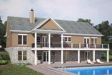 House Design - European Exterior - Rear Elevation Plan #119-427