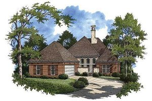 Southern Exterior - Front Elevation Plan #45-217