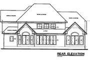European Style House Plan - 3 Beds 2.5 Baths 2130 Sq/Ft Plan #20-724 Exterior - Rear Elevation