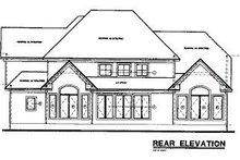 Home Plan - European Exterior - Rear Elevation Plan #20-724