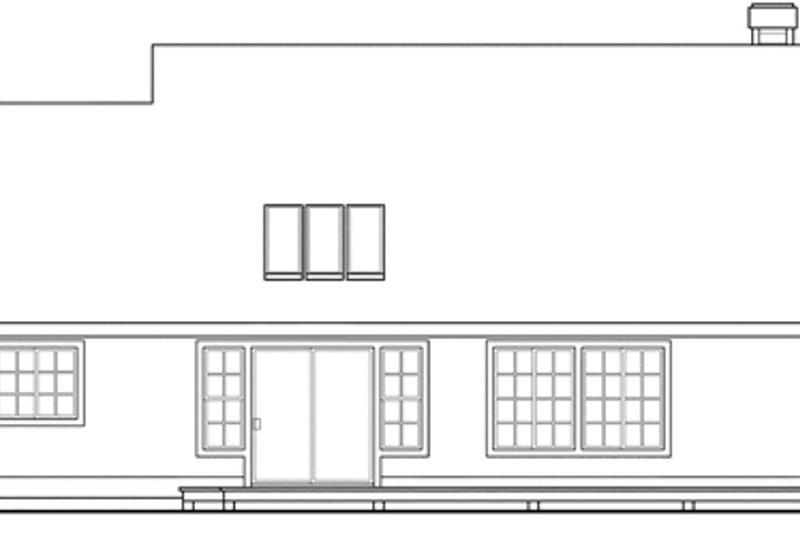 Farmhouse Exterior - Rear Elevation Plan #124-406 - Houseplans.com