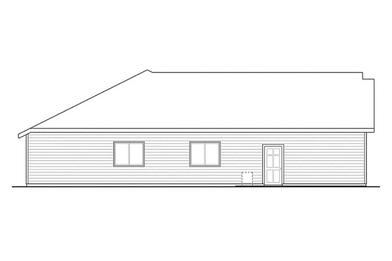 Ranch Exterior - Other Elevation Plan #124-879 - Houseplans.com