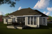 Craftsman Style House Plan - 3 Beds 2.5 Baths 2510 Sq/Ft Plan #70-1481 Exterior - Rear Elevation