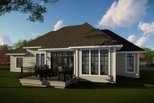 Dream House Plan - Craftsman Exterior - Rear Elevation Plan #70-1481