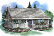 Cottage Style House Plan - 2 Beds 1 Baths 890 Sq/Ft Plan #18-1052
