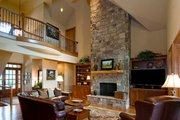 European Style House Plan - 4 Beds 3.5 Baths 2949 Sq/Ft Plan #929-41 Interior - Family Room