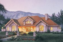 Dream House Plan - Traditional Exterior - Front Elevation Plan #57-360