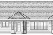 Ranch Style House Plan - 3 Beds 2.5 Baths 1852 Sq/Ft Plan #70-592 Exterior - Rear Elevation