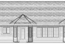 Home Plan - Ranch Exterior - Rear Elevation Plan #70-592