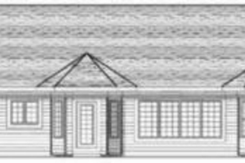 Ranch Exterior - Rear Elevation Plan #70-592 - Houseplans.com
