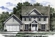 Country Style House Plan - 4 Beds 2.5 Baths 1992 Sq/Ft Plan #316-110 Exterior - Front Elevation