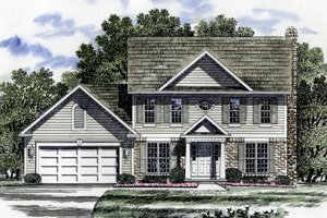 Country Exterior - Front Elevation Plan #316-110