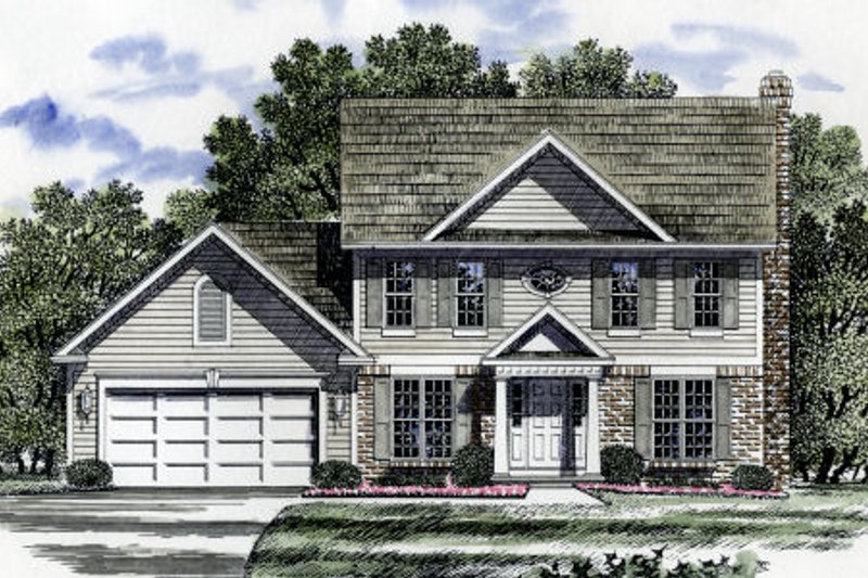 Country Style House Plan - 4 Beds 2.5 Baths 1992 Sq/Ft Plan #316-110