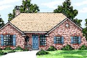 Traditional Style House Plan - 3 Beds 2 Baths 1372 Sq/Ft Plan #52-106
