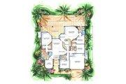 Mediterranean Style House Plan - 4 Beds 3 Baths 2581 Sq/Ft Plan #27-256 Floor Plan - Main Floor Plan