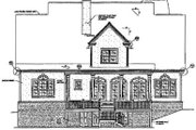 Southern Style House Plan - 4 Beds 4 Baths 3335 Sq/Ft Plan #37-104 Exterior - Rear Elevation