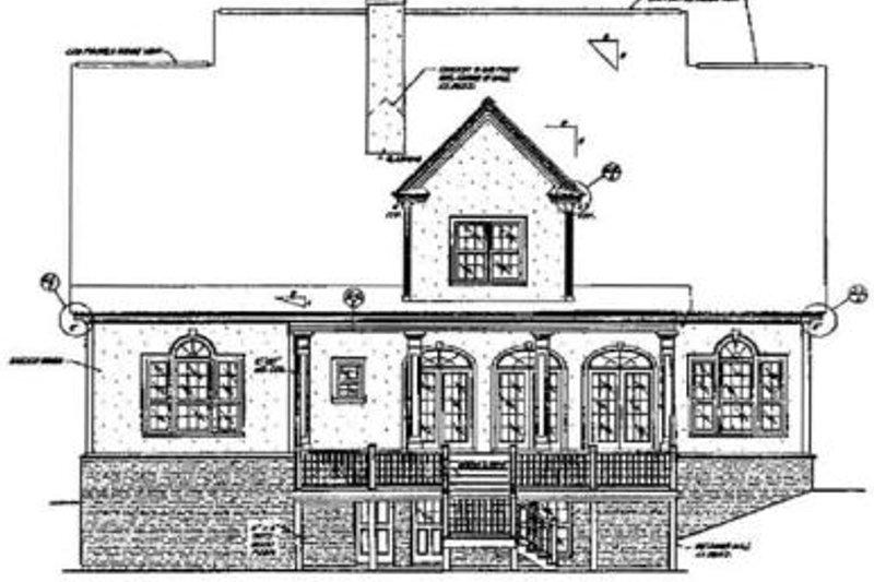 Southern Exterior - Rear Elevation Plan #37-104 - Houseplans.com