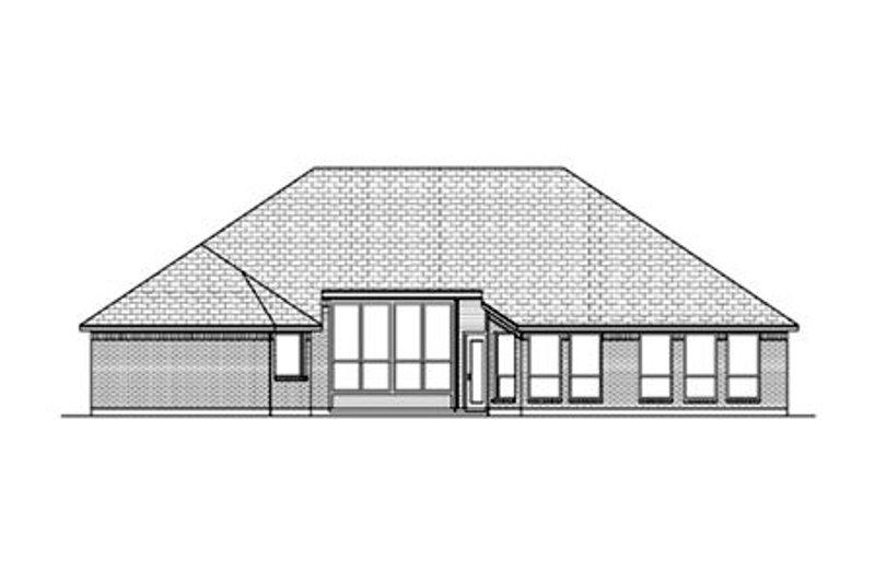 European Exterior - Rear Elevation Plan #84-486 - Houseplans.com