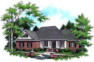 House Blueprint - Southern Exterior - Front Elevation Plan #21-106