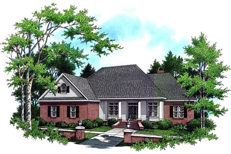 Southern Exterior - Front Elevation Plan #21-106