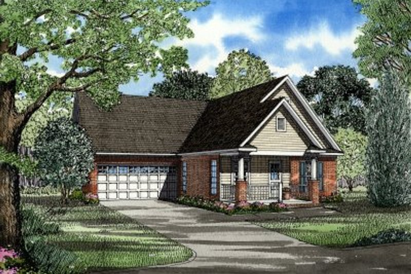 House Plan Design - Traditional Exterior - Front Elevation Plan #17-199