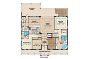 Beach Style House Plan - 2 Beds 2.5 Baths 6166 Sq/Ft Plan #27-566 Floor Plan - Upper Floor Plan