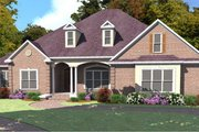Southern Style House Plan - 3 Beds 3 Baths 2726 Sq/Ft Plan #63-349 Exterior - Front Elevation