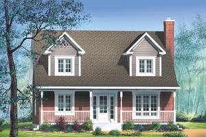 Farmhouse Exterior - Front Elevation Plan #25-221