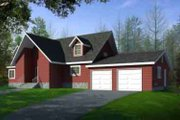 Modern Style House Plan - 1 Beds 2.5 Baths 2594 Sq/Ft Plan #1-1480 Exterior - Front Elevation