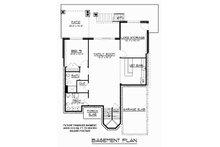 Craftsman Floor Plan - Lower Floor Plan Plan #1064-13